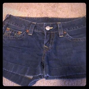True religion jess cuffed shorts 29